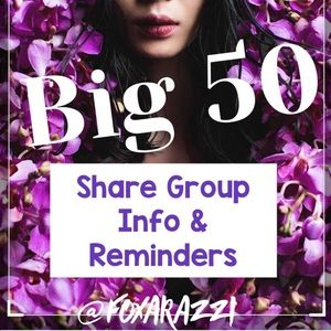 Other - 🌷NEW April BIG 50 Info Page🌷Thursday SG Open